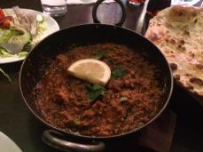 Chicken and keema karahi
